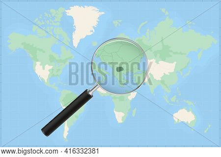 Map Of The World With A Magnifying Glass On A Map Of Macedonia Detailed Map Of Macedonia And Neighbo