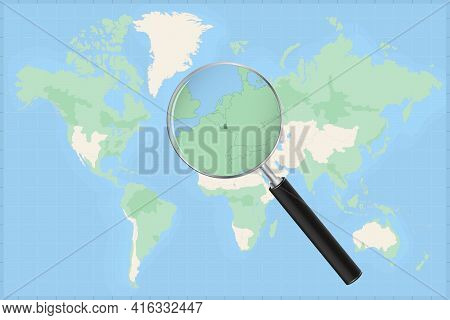 Map Of The World With A Magnifying Glass On A Map Of Luxembourg Detailed Map Of Luxembourg And Neigh