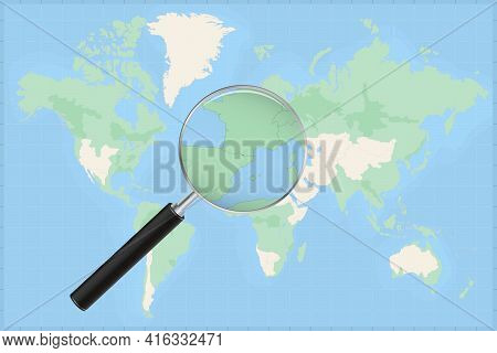 Map Of The World With A Magnifying Glass On A Map Of Andorra Detailed Map Of Andorra And Neighboring