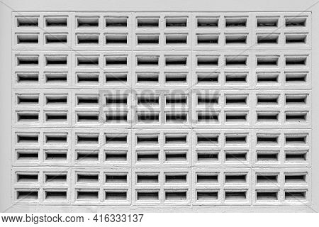 White Vented Cement Block Pattern And Background Seamless