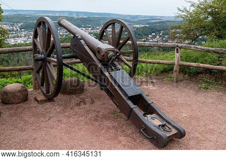 Historic Cannon At Castle Wartburg Near Eisenach, Thuringia