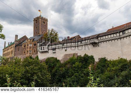 Scenic View On The Castle Wartburg, Unesco World Heritage Near Eisenach, Thuringia