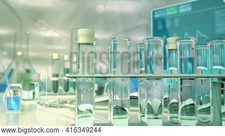 Cg Medical 3d Illustration, Clinical Drinkable Water Virus Test
