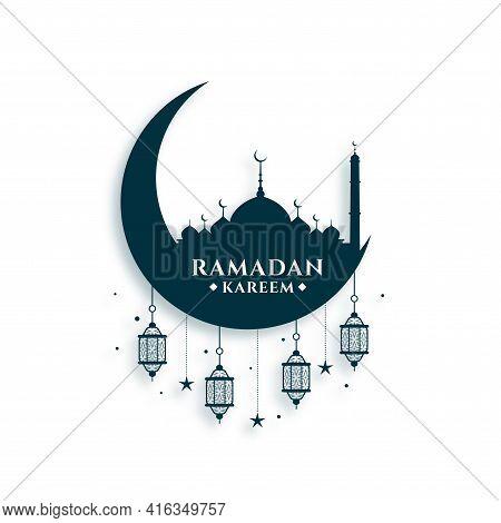 Ramadan Kareem Festival Card  Vector Template Design