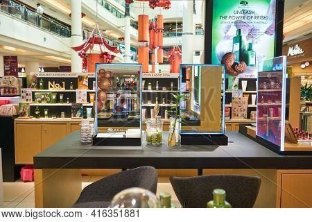KUALA LUMPUR, MALAYSIA - CIRCA JANUARY, 2020: Origins at Suria KLCC shopping mall in Kuala Lumpur.