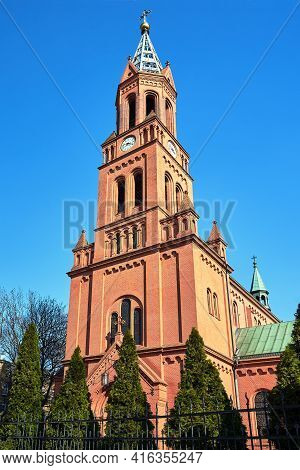 Historic, Neo-gothic Catholic Church In Poznan In Poland