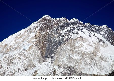 Nuptse Mountain Massif In Everest Region, Nepal