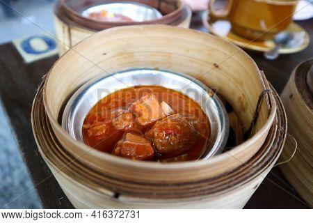 Pork Stewed In The Gravy ,pork Rib Stewed Or Dim Sum