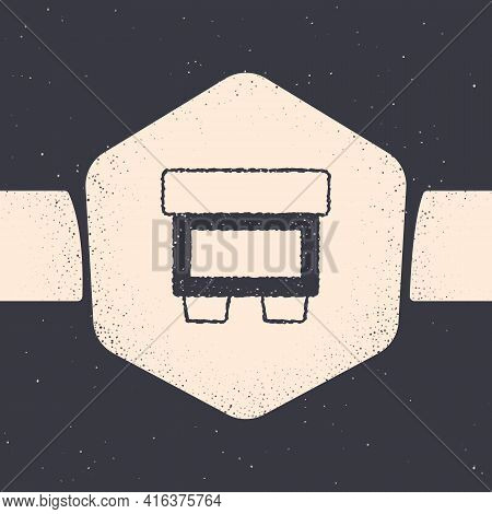 Grunge Fuse Of Electrical Protection Component Icon Isolated On Grey Background. Melting Breaking Pr