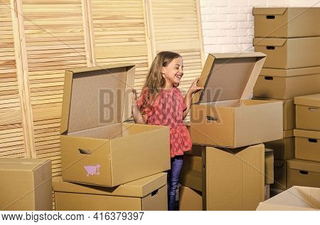 Move Out Concept. Prepare For Moving. Moving Out. Packaging Things. Sweet Home. Rent House. Family H