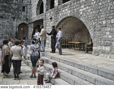 Cetinje, Montenegro - April 29, 2008: Cetinje Monastery - Orthodox Monastery Of The Nativity Of The