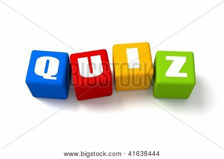 Quiz Colored Cubes