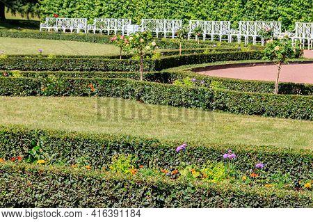 Formal Garden In Catherine Park In Tsarskoye Selo, Pushkin, Russia