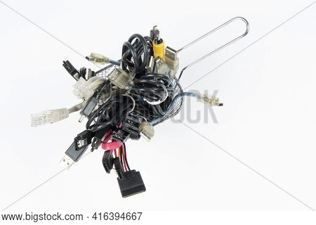 Technological Waste That Remains In Residence As Computer Cables