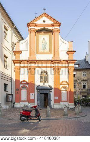 Krakow Poland August 2020. Church Of Sts. John The Baptist And John The Evangelist, Krakow, Lesser P