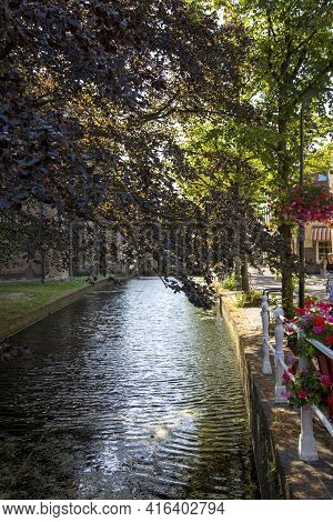 Delft, Netherlands - July 03, 2018: View To The Street In The Historic Center Of Delft