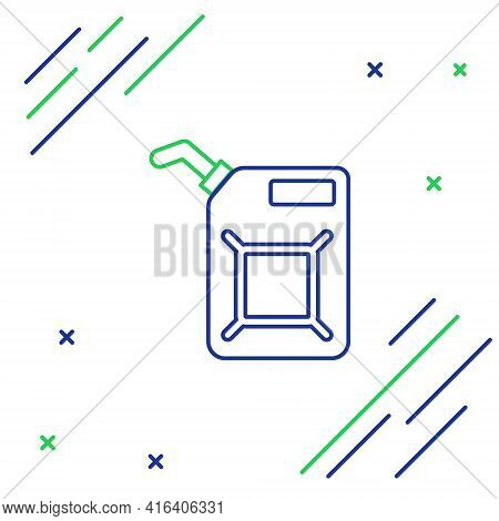 Line Canister For Gasoline Icon Isolated On White Background. Diesel Gas Icon. Colorful Outline Conc