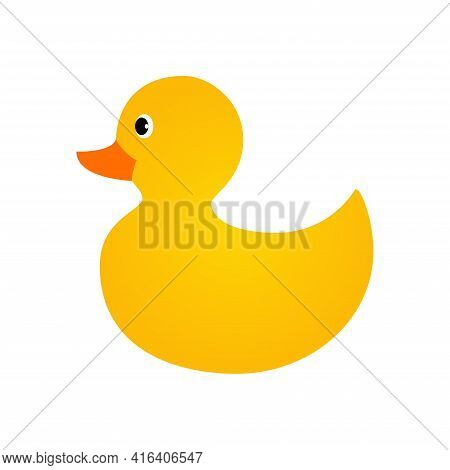 Rubber Duck Icon. Toy Bath Duck Icon.yellow Rubber Duck.
