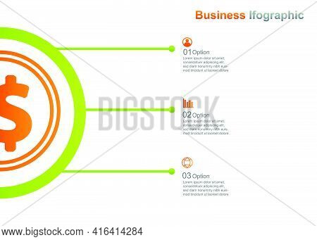 Business Infograpic Design Template. 3 Option Infographic Vector Illustration. Perfect For Marketing