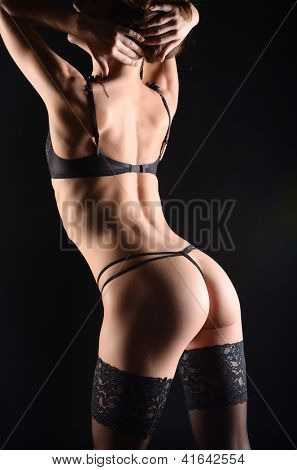 seductive girl in lingerie poster
