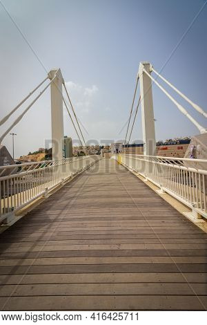 Jerusalem, Israel. 15-03-2021. The Bridge Over Road No. 50 - Begin Boulevard. Which Leads From Malch