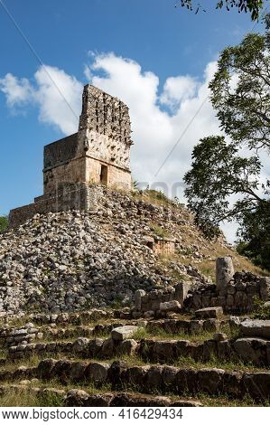 El Mirador, Ruins Of Ancient Maya Space Observatory At Labna, Yucatan, Mexico