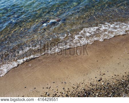Beach Sea Ocean Surface Background Image With Space For Graphics And Text