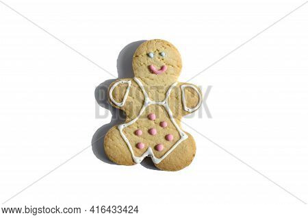 Figure Of A Smiling Cookie Man On A White Background Isolated Figure Of A Man Dessert