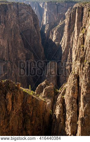 Layers Of Cliffs Leading Into Black Canyon Of The Gunnison