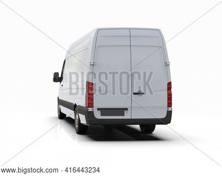 3d Illustration Van on White Background