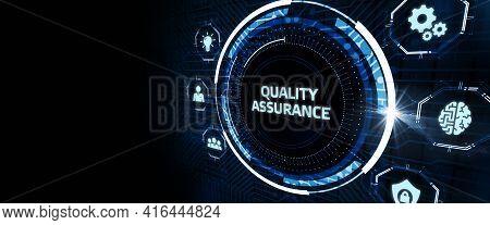 Business, Technology, Internet And Network Concept. Quality Assurance Service Guarantee Standard.3d