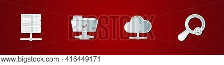 Set Server, Data, Web Hosting, Ftp Operation Successful, Network Cloud Connection And Search Locatio