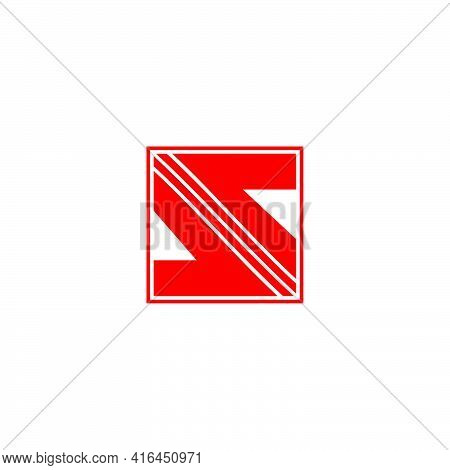 Abstract Letter S Opposite Square Arrow Logo Vector