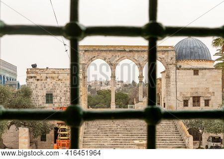 View Of The Temple Mount From The Inner Passage Of The Bab Al-silsila Minaret, On The Temple Mount I