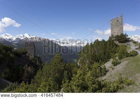 View Of Torri Di Fraele In Mountain Close To Bormio
