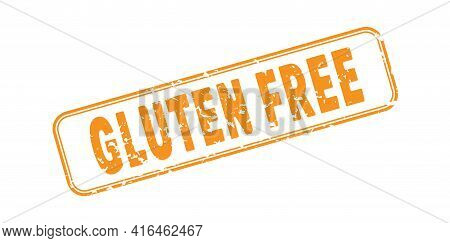 Gluten Free. An Impression Of A Seal Or Stamp With Scuffs. Grunge Style. Flat Design
