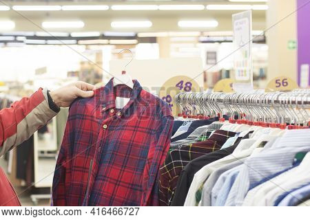 Knitwear Store, Sale Of Men's Shirts, A Large Selection