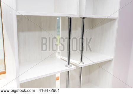 Cabinet Furniture, Two Light Wardrobe Sections, Close-up