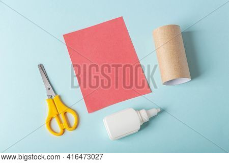 Diy And Kids Creativity. Step By Step Instruction: How To Make Octopus From Toilet Roll Tube. Step1