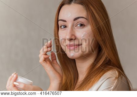 Problem Skin Prone To Rashes And Acne, Acne Scars, Concept Of Healthy Skin, Dermatology And Cosmetol