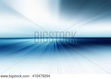 Abstract Radial Blur Zoom Surface In Blue, Gray And White Tones. Abstract Blue Background With Radia