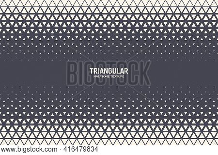 Triangular Halftone Texture Vector Border Geometric Technology Abstract Background. Half Tone Triang