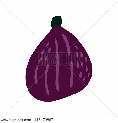 Figs Vector Illustration. Fig Icon In Cartoon Style. Isolated On White Background.