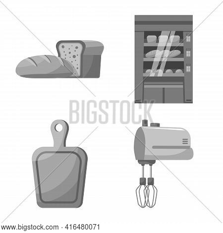 Isolated Object Of Bakery And Natural Icon. Set Of Bakery And Organic Vector Icon For Stock.