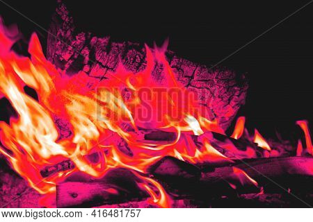 Campfire At Night, Campfire, Campfire Toned Color, Hellfire, Close-up, Selective Focus
