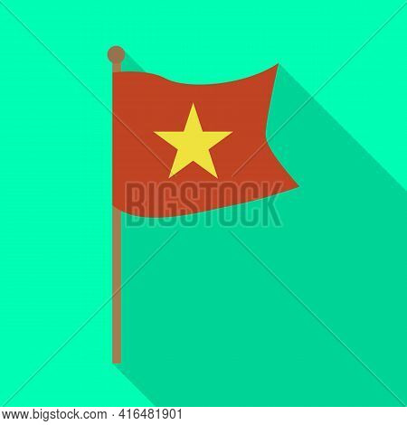 Isolated Object Of Flag And Red Symbol. Collection Of Flag And Vietnamese Stock Vector Illustration.