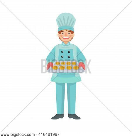 Vector Design Of Chef And Cook Icon. Set Of Chef And Pie Stock Vector Illustration.
