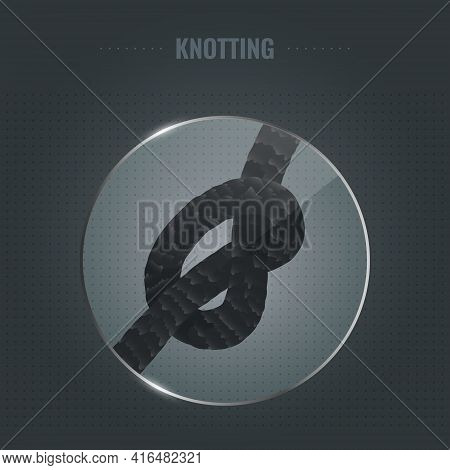 Hair Strand Knot Under The Microscope Illustration