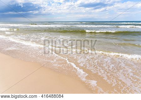 Sandy Coast Of Baltic Sea As Summer Background