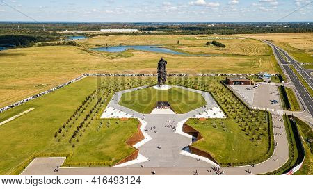 Rzhev, Russia - August 21, 2020 Rzhev Memorial To The Soviet Soldier. Memorial Complex In Memory Of